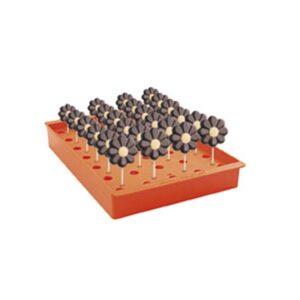 Expositor Naranja 35 Conos / 24 Piruletas