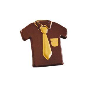 Camisa con Corbata de Chocolate